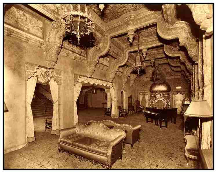 The Lobby Of The Oriental Theatre Which Was One Of The Most Ornate Theaters  Ever Built.